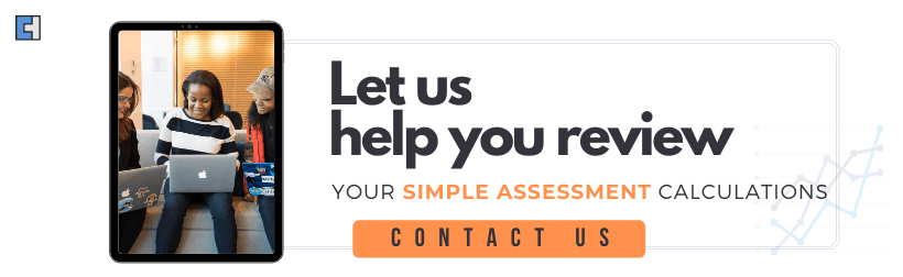 Simple assessment calculations support