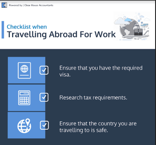 Checklist for Contractors when travelling abroad