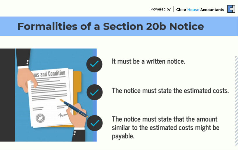 Formalities of a section 20b notice