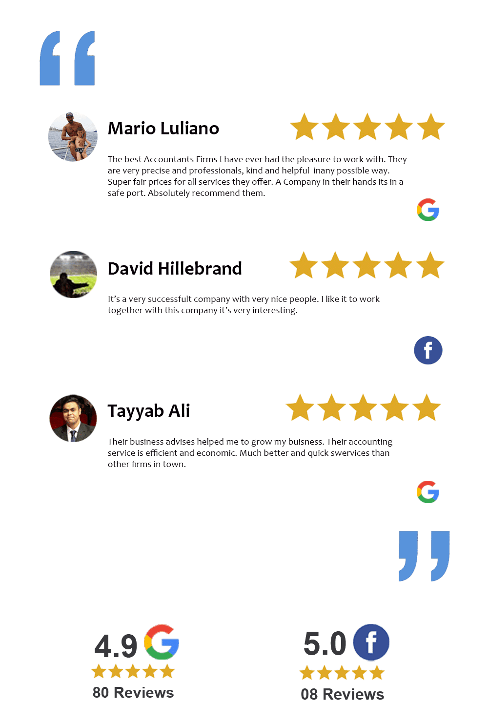 Client Reviews for Clear House Accountants