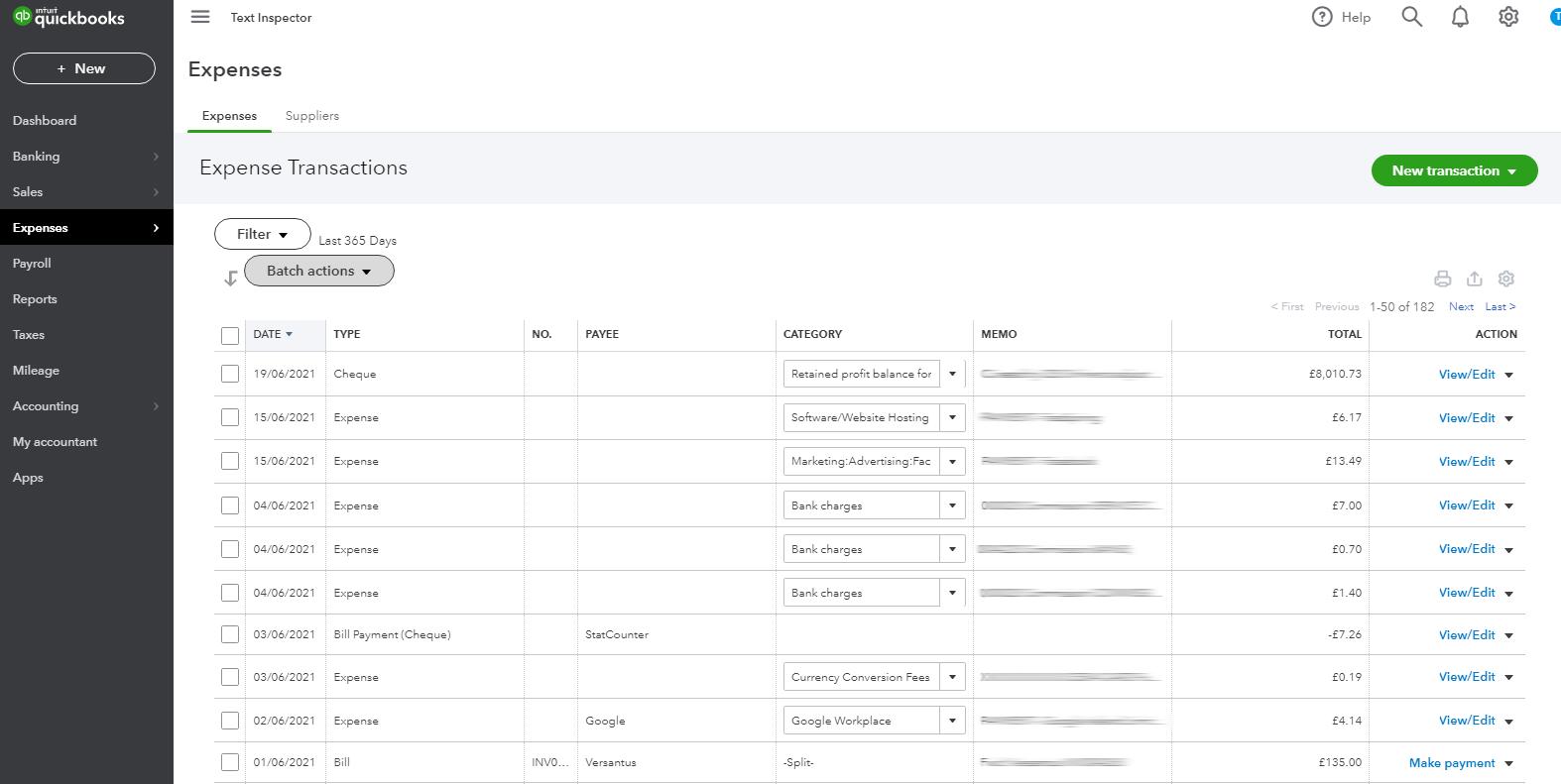 Manage Expenses in QuickBooks