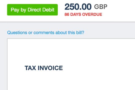 GoCardless Xero Invoices