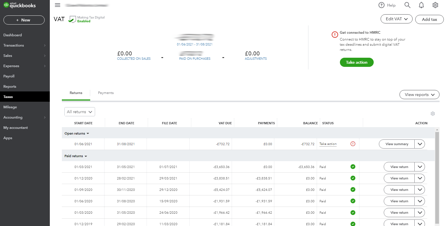 Manage VAT in QuickBooks