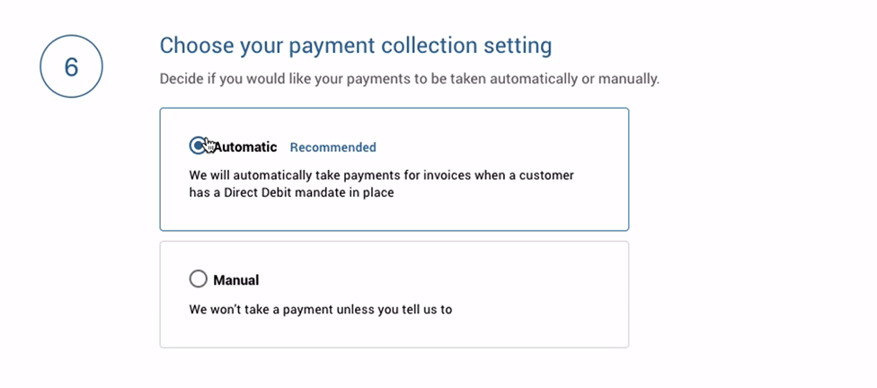 collect payments automatically or manually