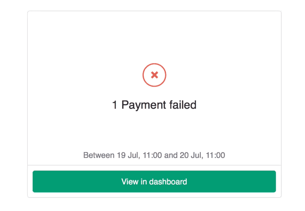 Failed Payments in GoCardless & Xero
