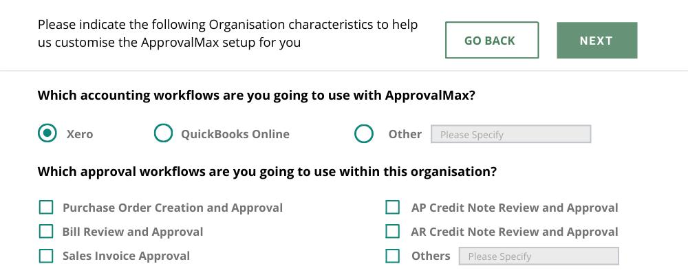 AprovalMax Client Profile Setup1