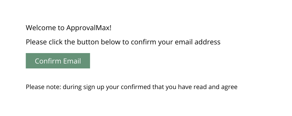 Confirm your email to start email based approval routing