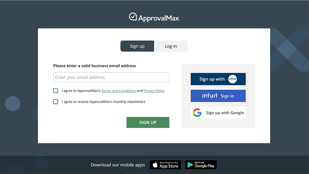 approvalmax signup