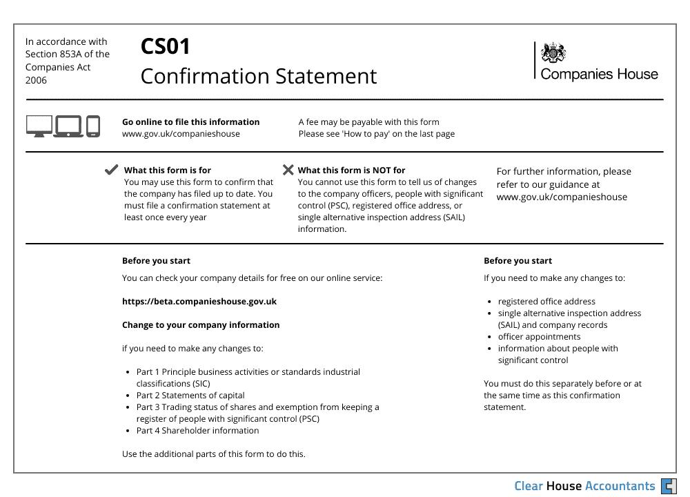 Confirmation Statement CS01